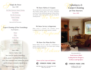 Carpet and Upholstery Cleaning Brochure
